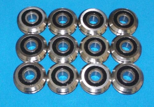 """RM2-2RS 3//8/"""" SEALED V-GROOVE CNC BEARING 12 PCS SHIPS FROM THE U.S.A."""