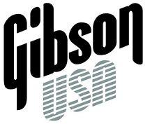 Gibson USA Decal Logo Sticker for Guitar Hard Case, Amp Cab, Wall Art, Window