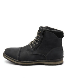 new uncut marlboro black mens shoes casual boots ankle  ebay
