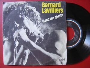 BERNARD-LAVILLIERS-stand-the-ghetto-attention-fragile-SPANISH-45-BARCLAY-1980