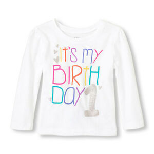 Details About NWT Childrens Place Girls 1st Birthday Shirt Its My 1 Year Old