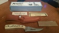 1990 - SCHRADE SCRIMSHAW KNIFE THE GREAT AMERICAN OUTDOORS NOS  - MODEL 502SC