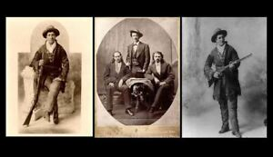 1895-Calamity-Jane-AND-Wild-Bill-Hickok-3-PHOTOS-Deadwood-SOUTH-DAKOTA-Wild-West