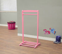 Kids Clothes Hanger Free Standing Girls Pink Children Coat Rack Garment Stand