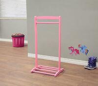 Kid's Clothes Hanger Pink Girls Children Coat Rack Garment Free Standing Stand