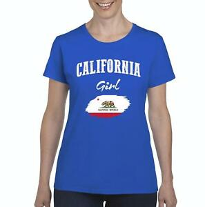 California-Girl-Women-Shirts-T-Shirt-Tee