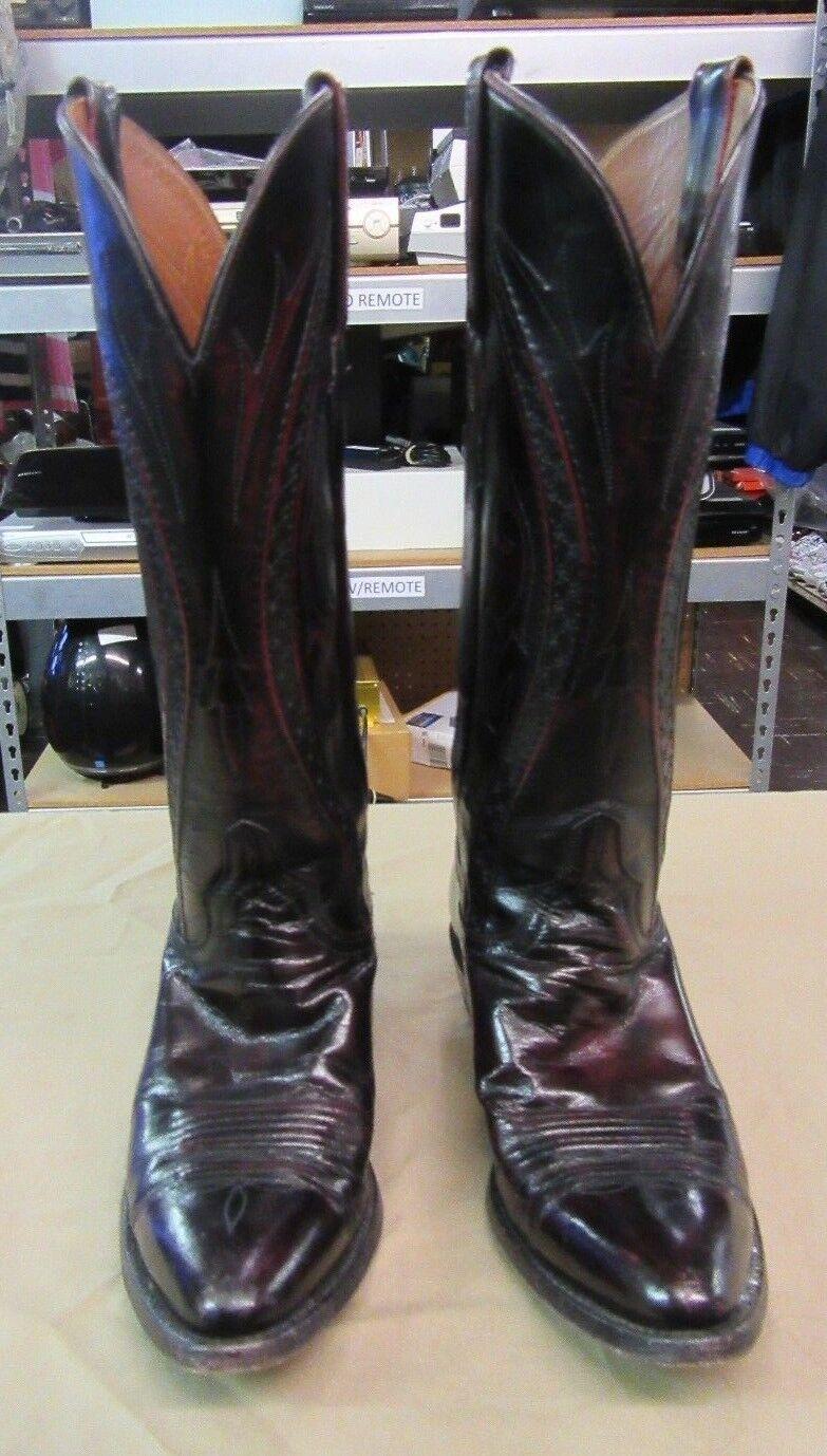 Lucchese botas de vaquero rojo cereza cereza cereza negra de cabra de cuero 5.5 B para mujer L796724  hasta 60% de descuento