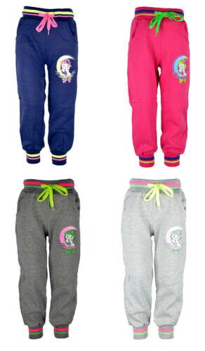 Bambini-Jogging Pantaloni//Ragazze Pantaloni con dolci Gatto con glitzerstein tg 92,98//104