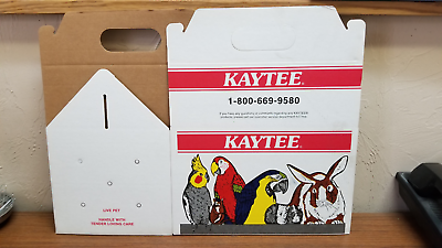 """4 X Cardboard Carrier 11""""x7 1/2""""x10 1/2 """" Small Animals Transport Air Holes Hot Sale 50-70% Korting"""
