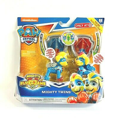 Paw Patrol Mighty Twins Pups Super Paws Jouet Cruiser Kids Figurines Cadeau de Noël NEUF