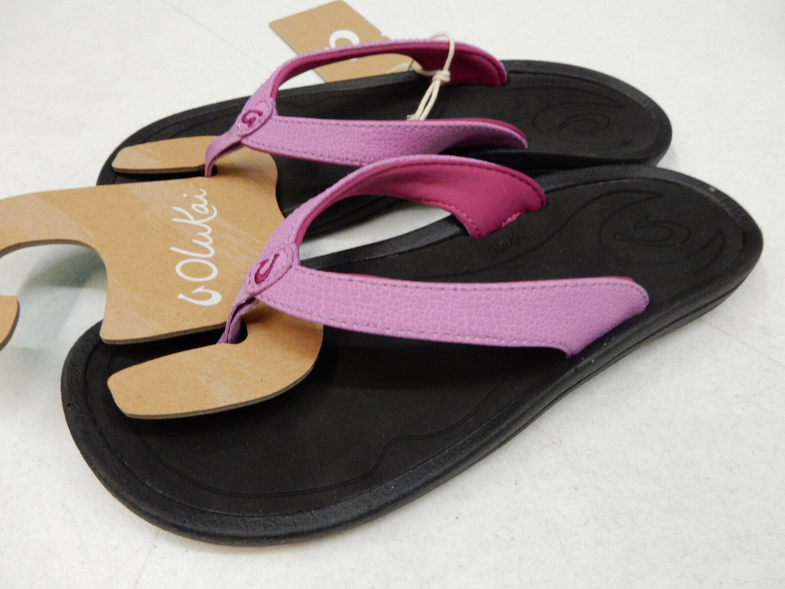 OLUKAI Damenschuhe SANDALS KULAPA KAI DRAGON FRUIT BLACK SIZE 7