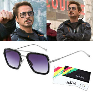Details zu JackJad Tony Stark Men Sunglasses Flight 006 Fashion Avengers Iron Man Glasses
