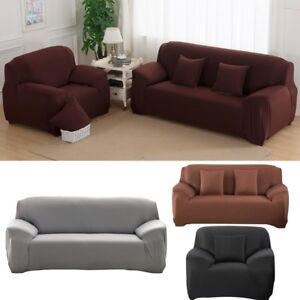 Sofa 1/2/3/4 Seater Stretch Couch Covers Protector Slip ...