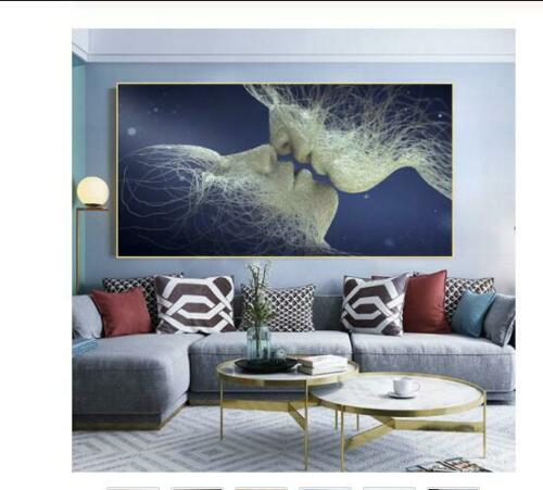 Abstract Love Kiss Wall Art Canvas Prints Pictures For Living Room Modern