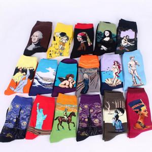 Famous Painting Art Socks Novelty Funny Novelty For Men Women YJ