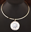 Huge-Large-Big-Clear-Gem-Crystal-Rhinestone-Necklace-Bib-Pendant-Choker-Gold thumbnail 10