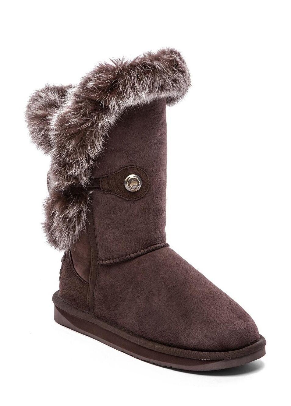 Australia Luxe Collective para mujer mujer mujer de invierno nordic Corto botas Zapatos de piel de conejo  Vuelta de 10 dias
