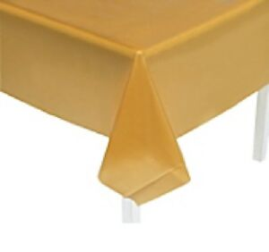 Table Cover Gold Plastic Rectangle Party Decorations Tableware