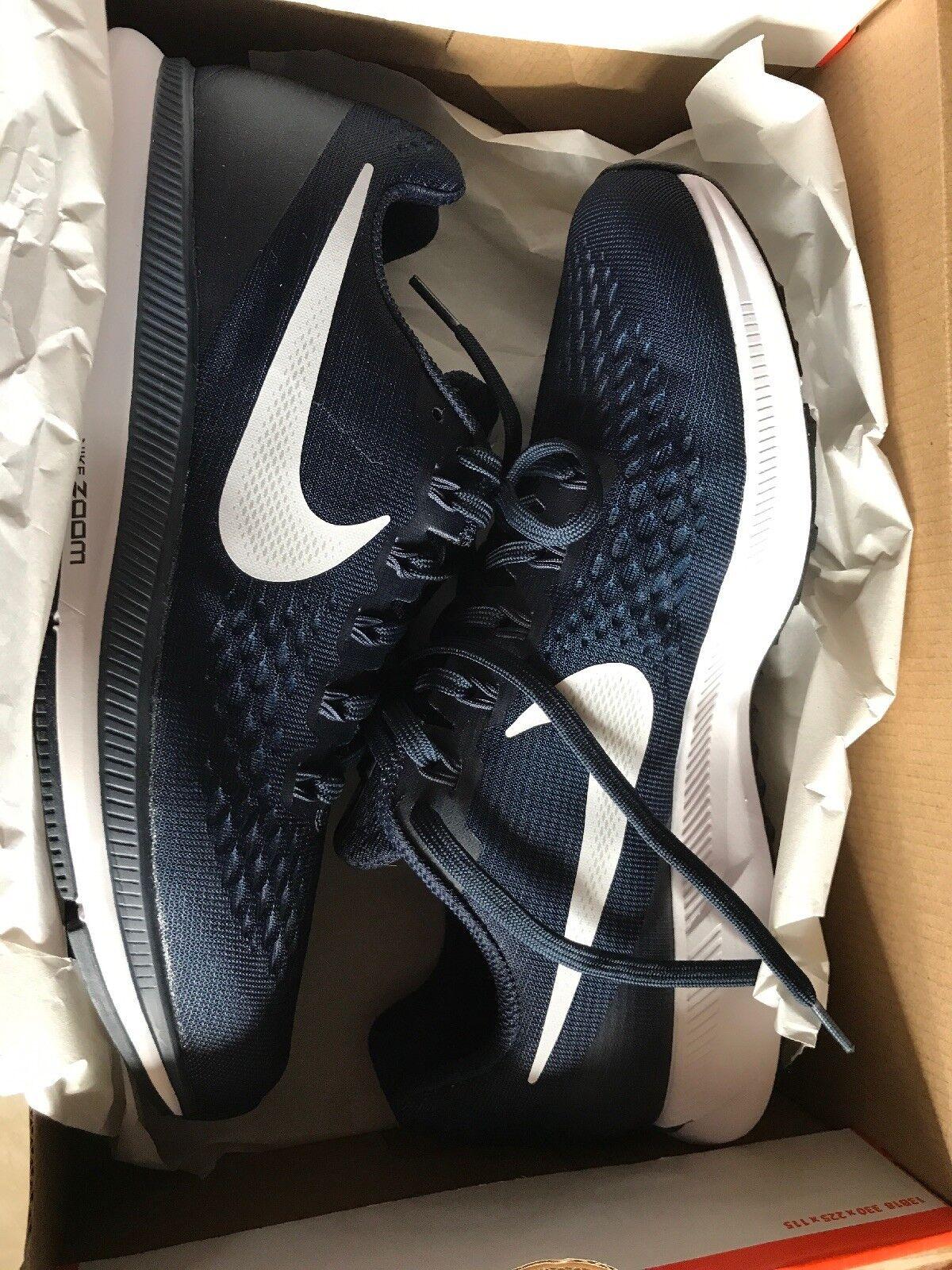 NEW Nike Air Zoom Pegasus 34 Men's Running shoes Obsidian White Sz 8.5