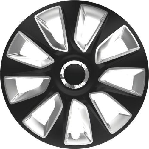 Ruotino Radzierblenden Universal 4er Pack 17 pollici STRATOS RC BLACK /& SILVER