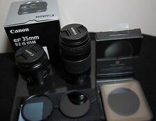 Canon EF 35mm f/2 IS USM Lens and EF 75-300mm f/4-5.6 III and MORE BUNDLE!!