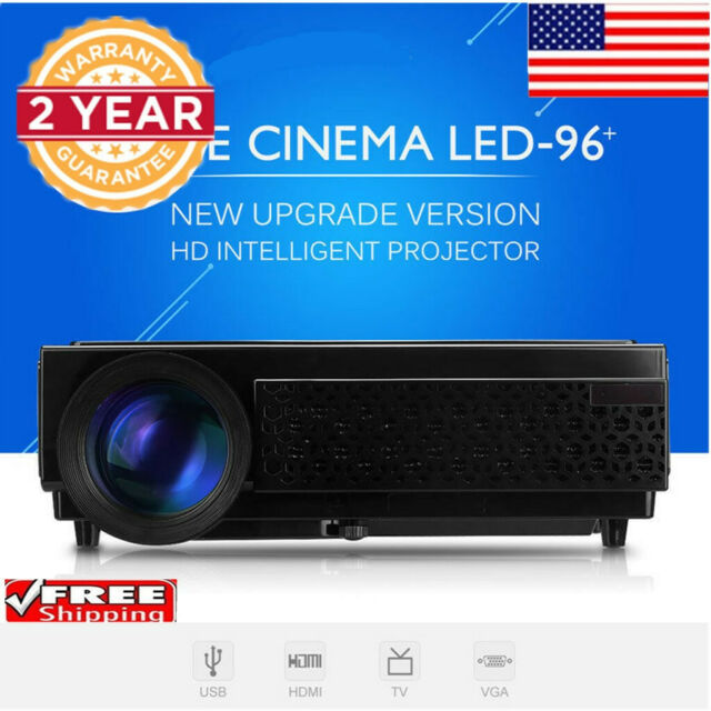 5000 Lumens HD 1080P Home Theater 3D LED Projector SD HDMI USB AV LCD 120 inch