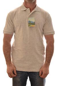 REGATTA-Hombre-Polo-clasico-gris-melange-trs123-B2