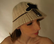 New Cloche Hat Cream Beige Ladies Pretty Roaring Twenties 20's Style
