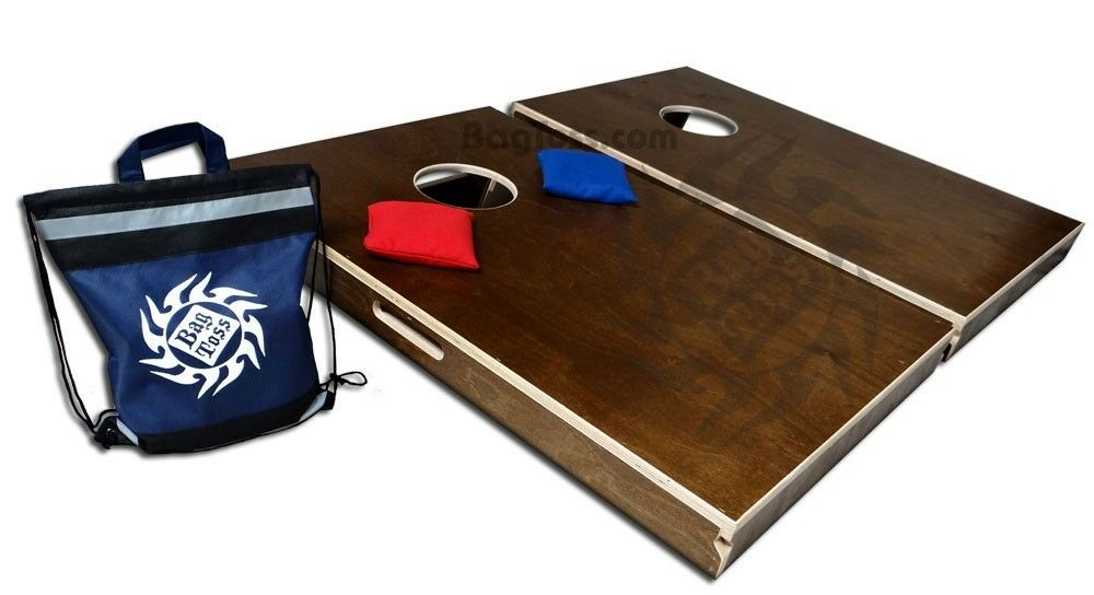 Bag Toss Cornhole boards Tailgate size - High Quality all wood - 8 Bags - Baggo