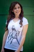 Cowgirls For A Cause Half Pass Shirt Sleeve Tee-white-l