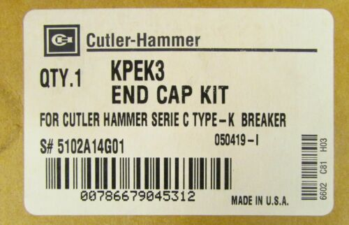 EATON CUTLER HAMMER KPEK3 K Frame Breaker End Cap Lug Terminal Kit 5102A14G01