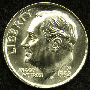 1992-D Uncirculated ROOSEVELT DIME ROLL