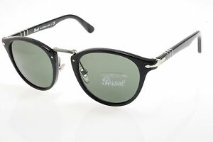 image is loading new authentic sunglasses persol typewriter 3108s 95 31 authentic black crystal