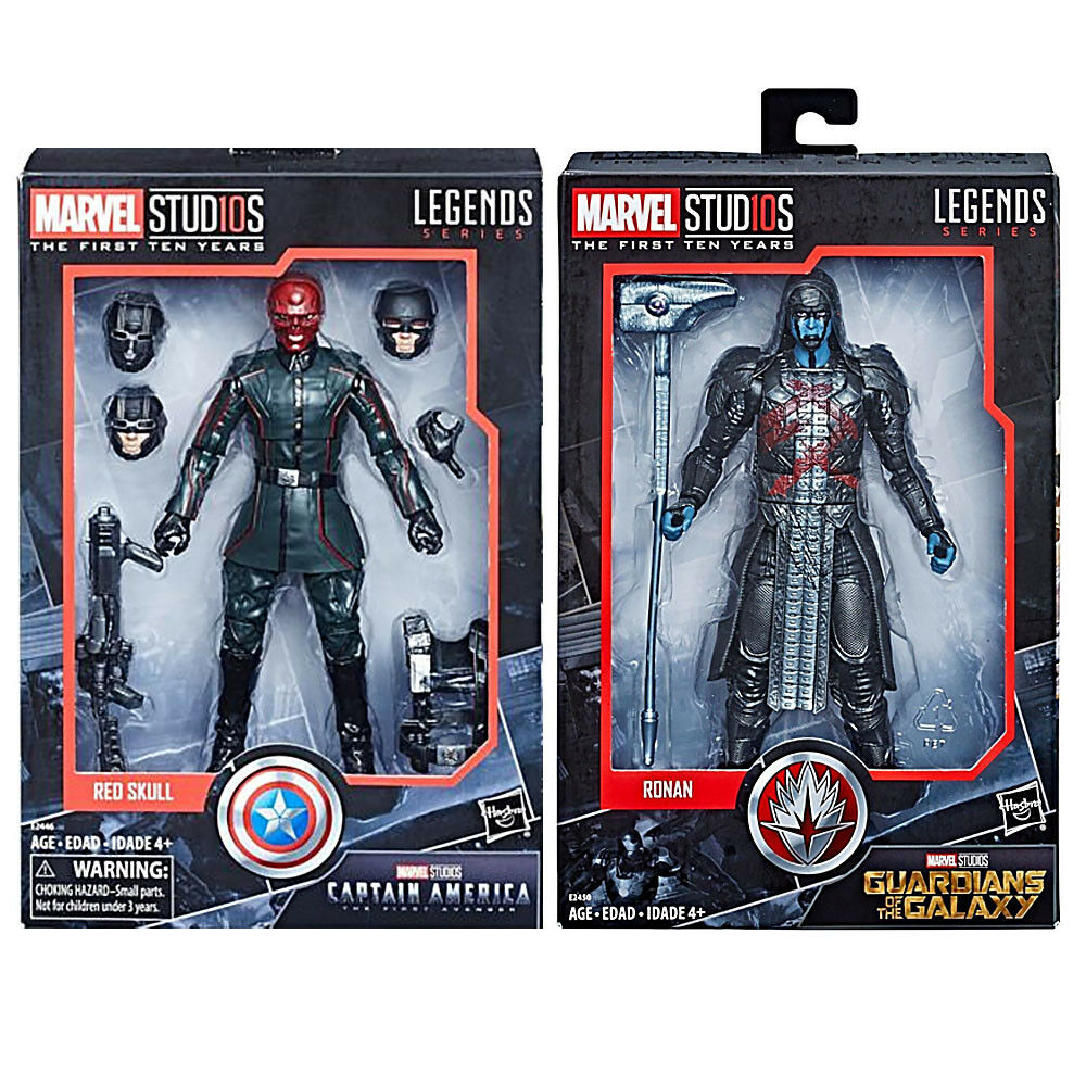 Marvel Legends 10th Anniversary Captain America ROT Skull &Ronan 6