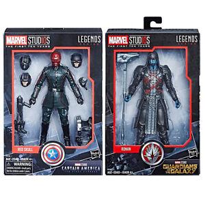 Marvel-Legends-10th-Anniversary-6-034-Captain-America-Red-Skull-amp-Ronan-2pk-Set-NEW