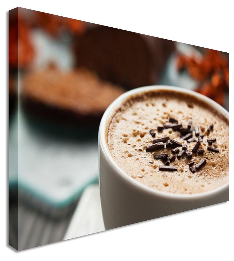 Gran Taza de moca para cafetería & & & habas de LONA parojo arte Foto 250d13