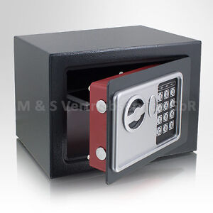 Mini-Tresor-Zahlenschloss-elektronisch-Minisafe-Wandtresor-Wandsafe-Grau-Tresor
