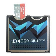Dual Slot Micro SD/SDXC TF to CF Compact Flash type I II Card Converter Adapter