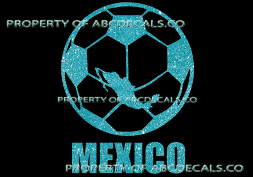 VRS Soccer Futbol World Ball MEXICO Cup Champions CAR DECAL METAL STICKER