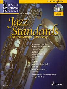 Schott-Saxophone-Lounge-Jazz-Standards-Alt-Sax-Play-Along-Noten-CD-Dirko-Juchem