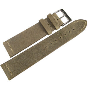 20mm-ColaReb-Venezia-Swamp-Brown-Tan-Leather-Italy-Aviator-Watch-Band-Strap