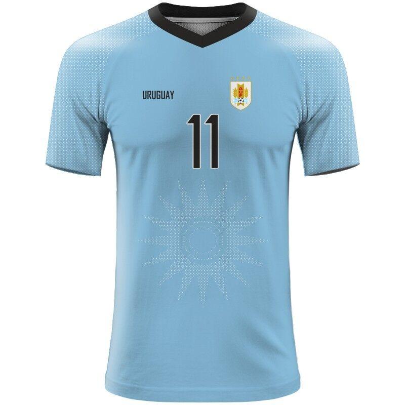 99d723ec205 Details about FIFA WORLD CUP 2018 Uruguay Football Fan Jersey GODIN SUAREZ  CAVANI BENTACUR