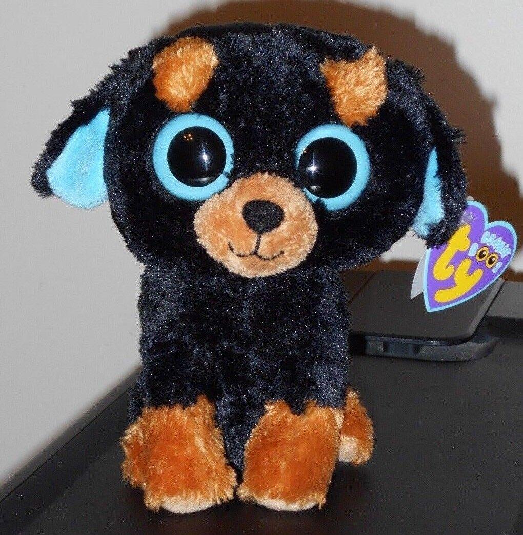 Ty Beanie Boos  TUFFY the redtweiler Dog (6 Inch) NEW MWMT