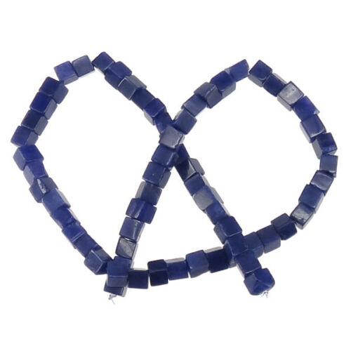 Mármol azul perlas-Strang cubo cuadrado semipreciosa piedra 6mm-p00538x5