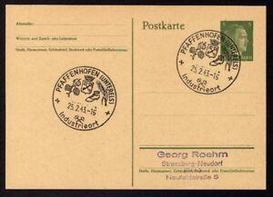 Ganzsache-PFAFFENHOFEN-Cachet-Special-25-02-43-WW2