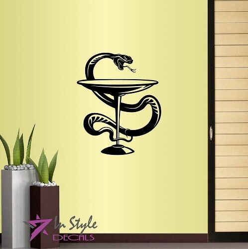 Vinyl Decal Medical Symbol Snake Wrapping Goblet Doctors Office