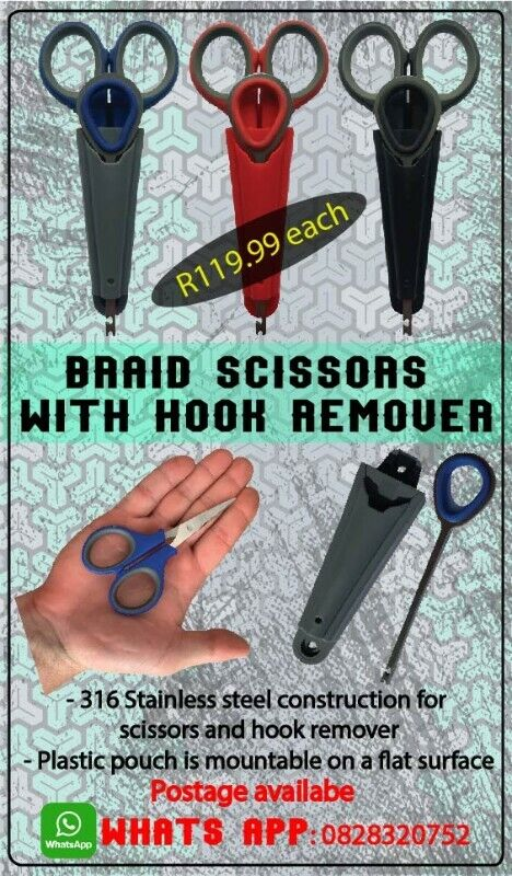 Scissors - 316 Stainless with hook remover