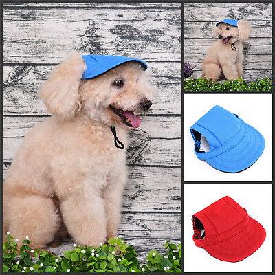 Pet Dog Cat Puppy Baseball Visor Hat Peaked Cap Sunbonnet Outdoor Topee Summer