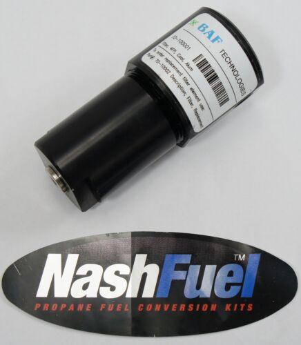 BAF TECHNOLOGIES 70-10001 SAE-10 CNG FILTER 3600 PSIG COMPRESSED NATURAL FORD
