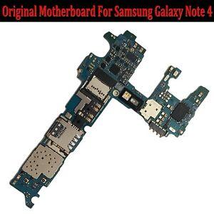 32GB-Unlocked-Original-Motherboard-Hauptplatine-Fuer-Samsung-Galaxy-Note-4-N910F